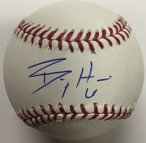 Photo of Billy Hamilton Autographed Baseball