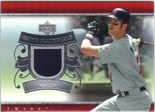 Photo of 2007 Upper Deck UD Game Materials #JM Joe Mauer Jsy S1