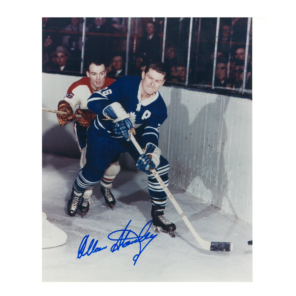 ALLAN STANLEY Signed Toronto Maple Leafs 8 X 10 Photo - 70119