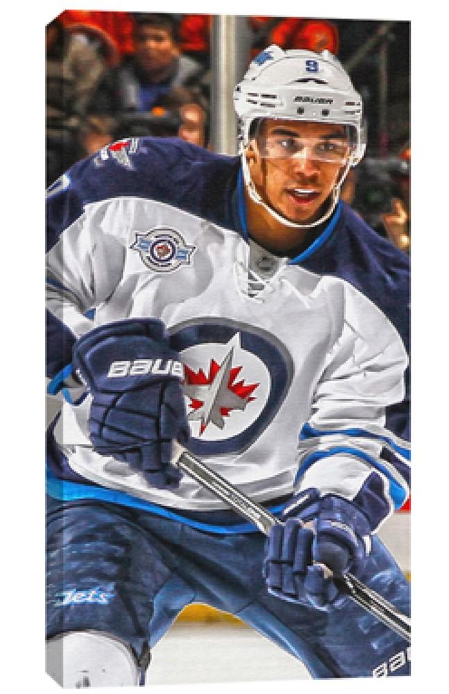 Evander Kane - 14x28 Canvas - Winnipeg Jets