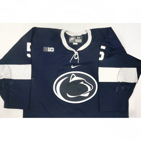 Photo of Penn State Game Used Men's Ice Hockey Jersey: Blue #5 (Size 54)