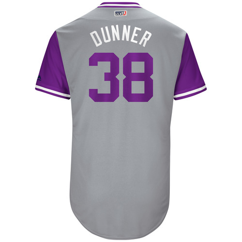 "Photo of Mike ""Dunner"" Dunn Colorado Rockies 2017 Game-Used Players Weekend Jersey"