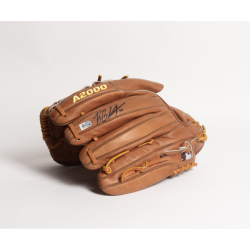Photo of Autographed Koda Glover Glove - Winning Bidder Can Pick Up Items Directly From Koda on September 24, 2018