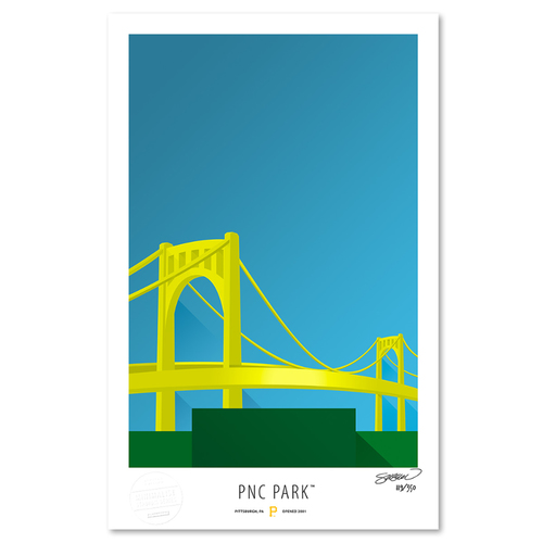 Photo of PNC Park - Collector's Edition Minimalist Art Print by S. Preston #119/350  - Pittsburgh Pirates
