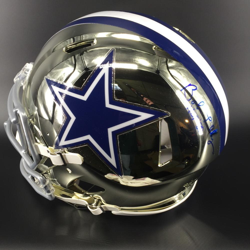 HOF - Cowboys Bob Lilly Signed Chrome Proline Helmet