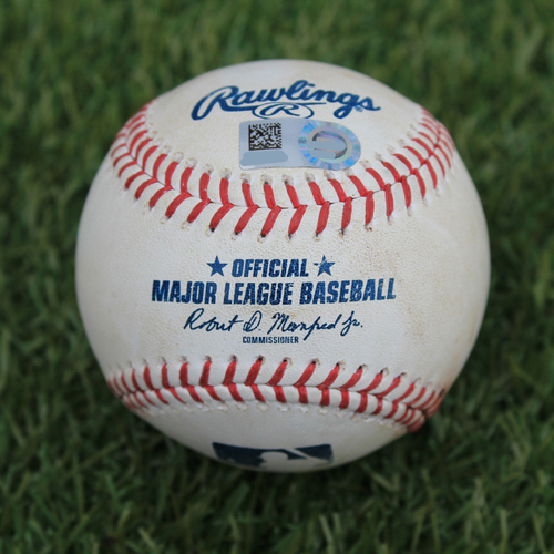 Photo of Game-Used Baseball: Matt Carpenter 278th Career Double (STL @ KC - 8/13/19)