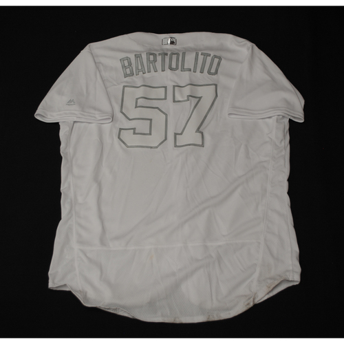 "Photo of Ariel ""BARTOLITO"" Jurado Texas Rangers Game-Used 2019 Players' Weekend Jersey"