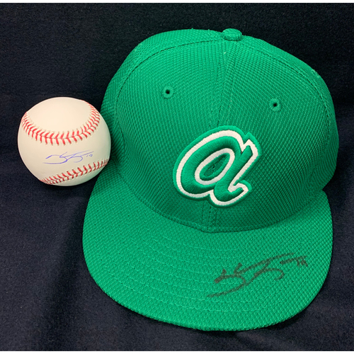 Photo of Shane Greene Autographed Ball and Hat Combo