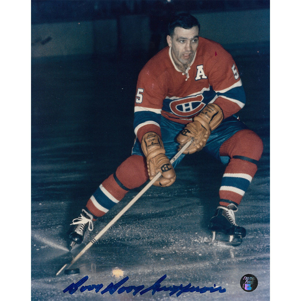 Bernie BOOM BOOM Geoffrion (deceased) Autographed Montreal Canadiens 8X10 Photo