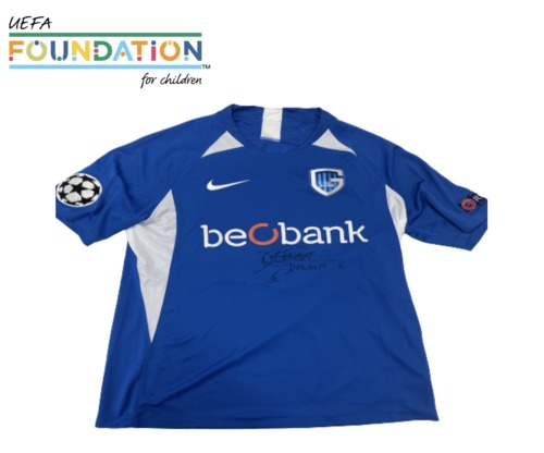 Photo of A signed  SŽbastien Dewaest's  KRC Genk jersey