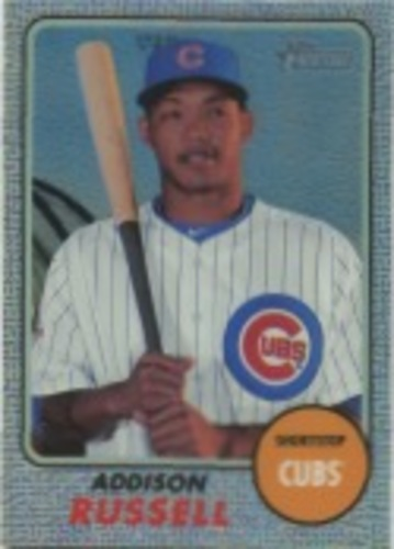 Photo of 2017 Topps Heritage Chrome Purple Refractors #THC424 Addison Russell