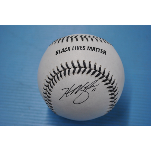 Photo of 2020 MLB Black Lives Matter Commemorative Ball - Autographed by Hunter Renfroe