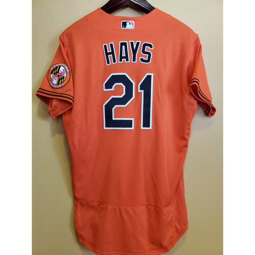 Photo of Austin Hays - Alternate Jersey: Team Issued
