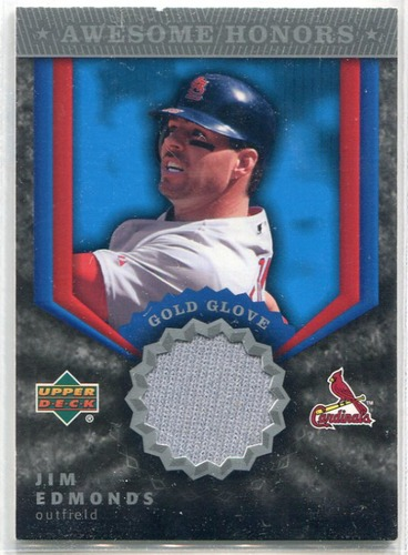 Photo of 2004 Upper Deck Awesome Honors Jersey #JE Jim Edmonds GG