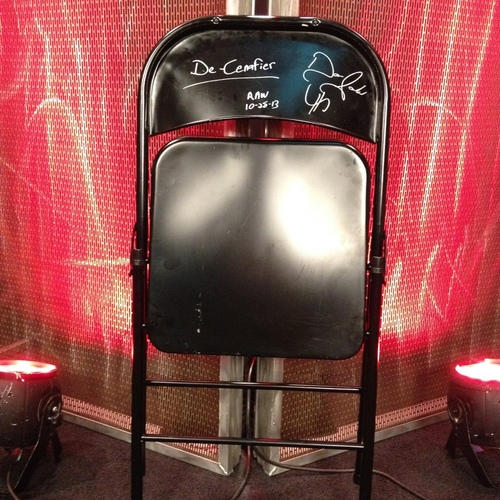 SIGNED Steel Chair used by Damien Sandow to attack John Cena (RAW 11/28)