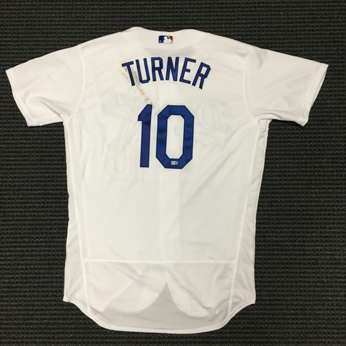 LA Dodgers Foundation Auction  Justin Turner Game-Used LA Dodger Jersey e06f5f15bee