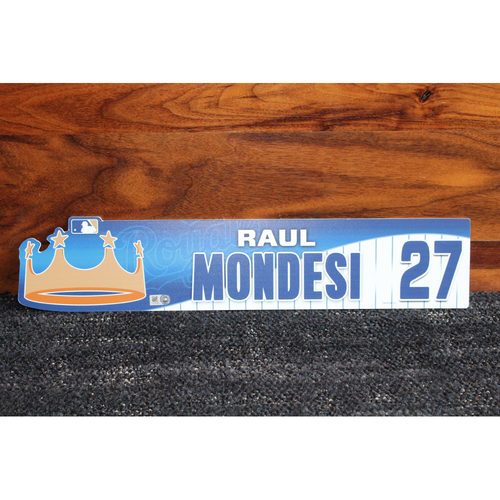 Game-Used Locker Name Plate: Raul Mondesi