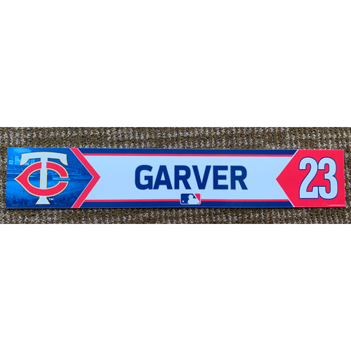 Photo of 2018 Game-Used Mitch Garver Minnesota Twins Lockertag