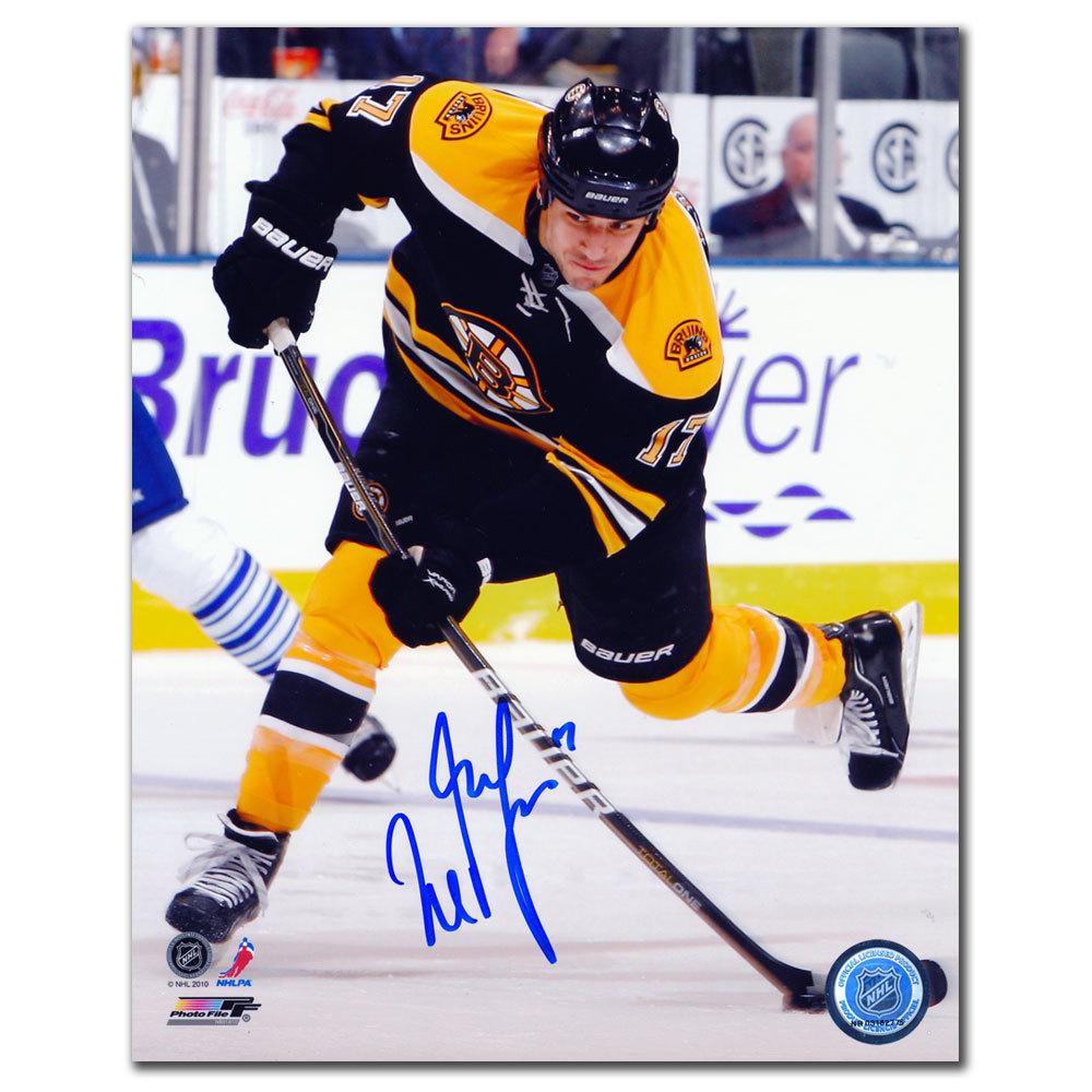 cd631321b Milan Lucic Boston Bruins SLAPSHOT Autographed 8x10 - NHL Auctions