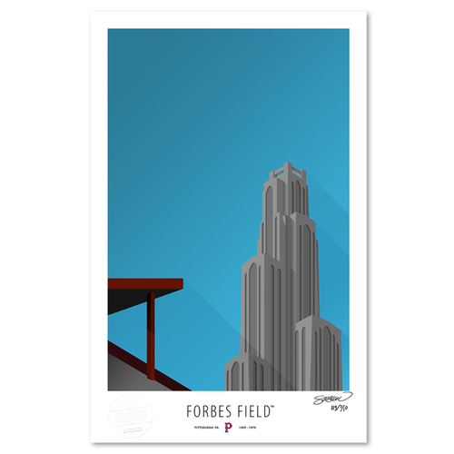 Photo of Forbes Field - Collector's Edition Minimalist Art Print by S. Preston #119/350  - Pittsburgh Pirates