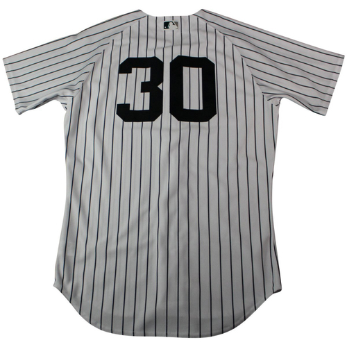 Photo of David Robertson New York Yankees 2018 Home Opening Day Game Used #30 Pinstripe Jersey (4/3/2018)