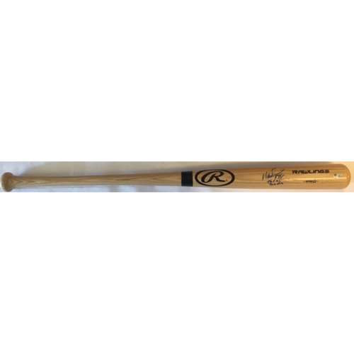 "Photo of Wade Boggs ""3010 Hits, HOF 05"" Autographed Rawlings Bat"