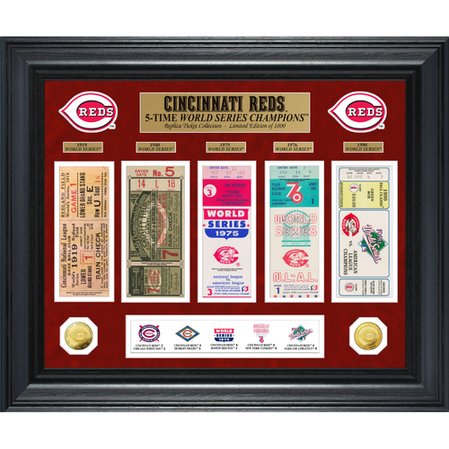 Photo of Cincinnati Reds World Series Deluxe Gold Coin & Ticket Collection