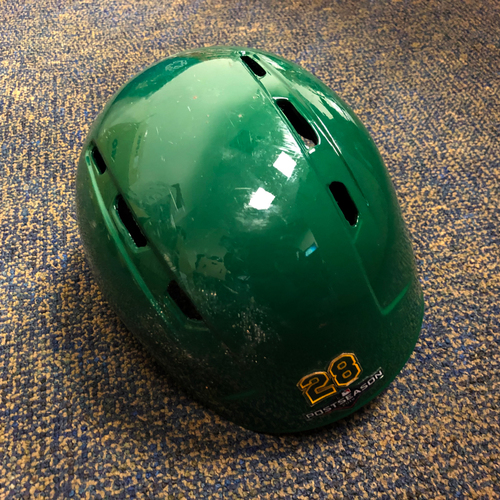 Photo of Matt Olson Game-Used Kelly Green A.L. Wild Card Game & Regular Season Helmet
