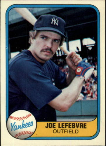Photo of 1981 Fleer #103 Joe Lefebvre RC