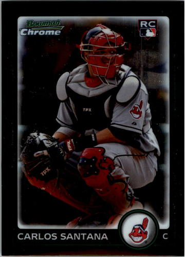 Photo of 2010 Bowman Chrome #214B Carlos Santana RC
