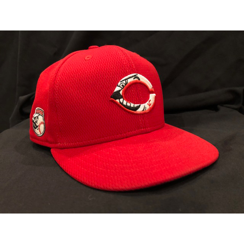Photo of Amir Garrett -- 2020 Spring Training Cap -- Size: 7 1/4