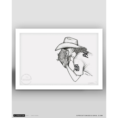 Photo of Limited Edition Chris Paddack Sketch Art Print by S. Preston