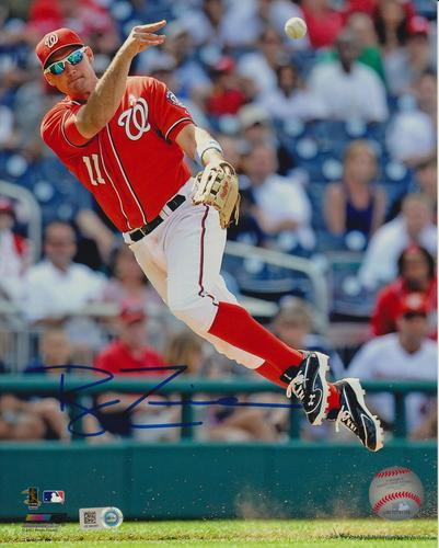 Photo of Ryan Zimmerman Autographed 8x10 - Fielding