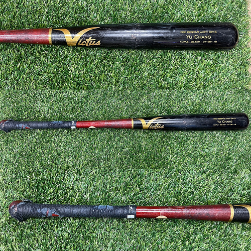 Photo of Minnesota Twins: 2021 Game-Used Yu Chang Bat used by Mitch Garver - Grand Slam off of Tyler Alexander 7/27/2021