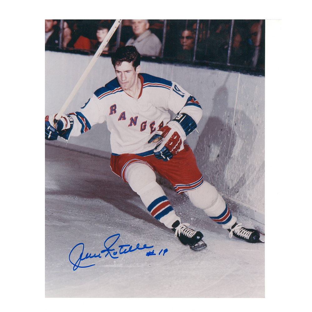 JEAN RATELLE Signed New York Rangers 8 X 10 Photo - 70121