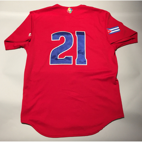 2017 WBC: Cuba Game-Used Batting Practice Jersey, #21