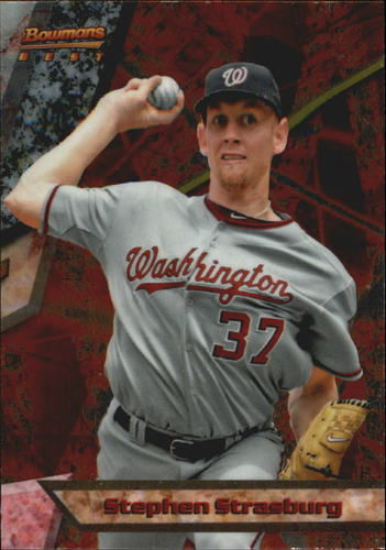 Photo of 2011 Bowman Bowman's Best #BB18 Stephen Strasburg -- Nationals post-season