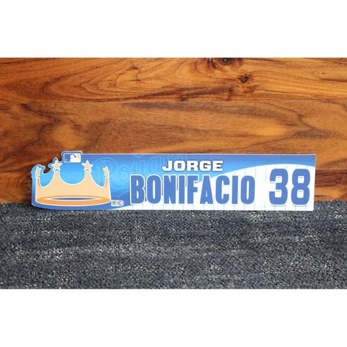 Game-Used Locker Name Plate: Jorge Bonifacio