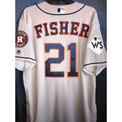 Photo of 2017 World Series Team-Issued Derek Fisher Road Jersey
