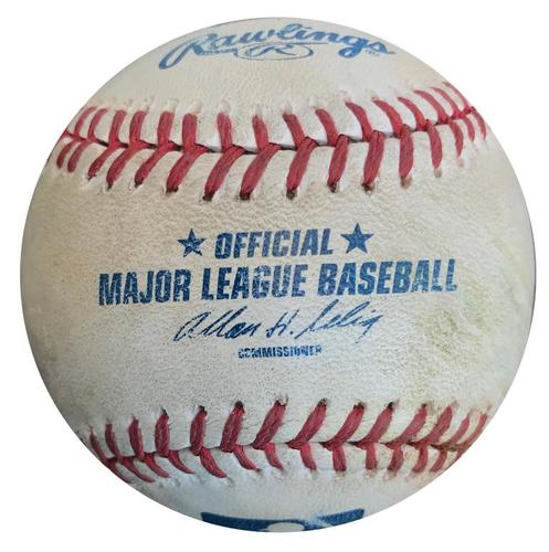 Photo of Game-Used Baseball from Pirates vs. Brewers on 4/20/14 - Josh Harrison Double