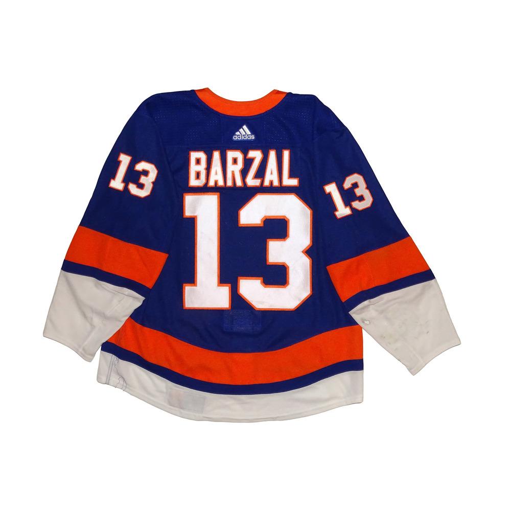 Mathew Barzal 2018 Calder Trophy Winner- Rookie Game Worn Home Jersey - 2017-18 Season - New York Islanders