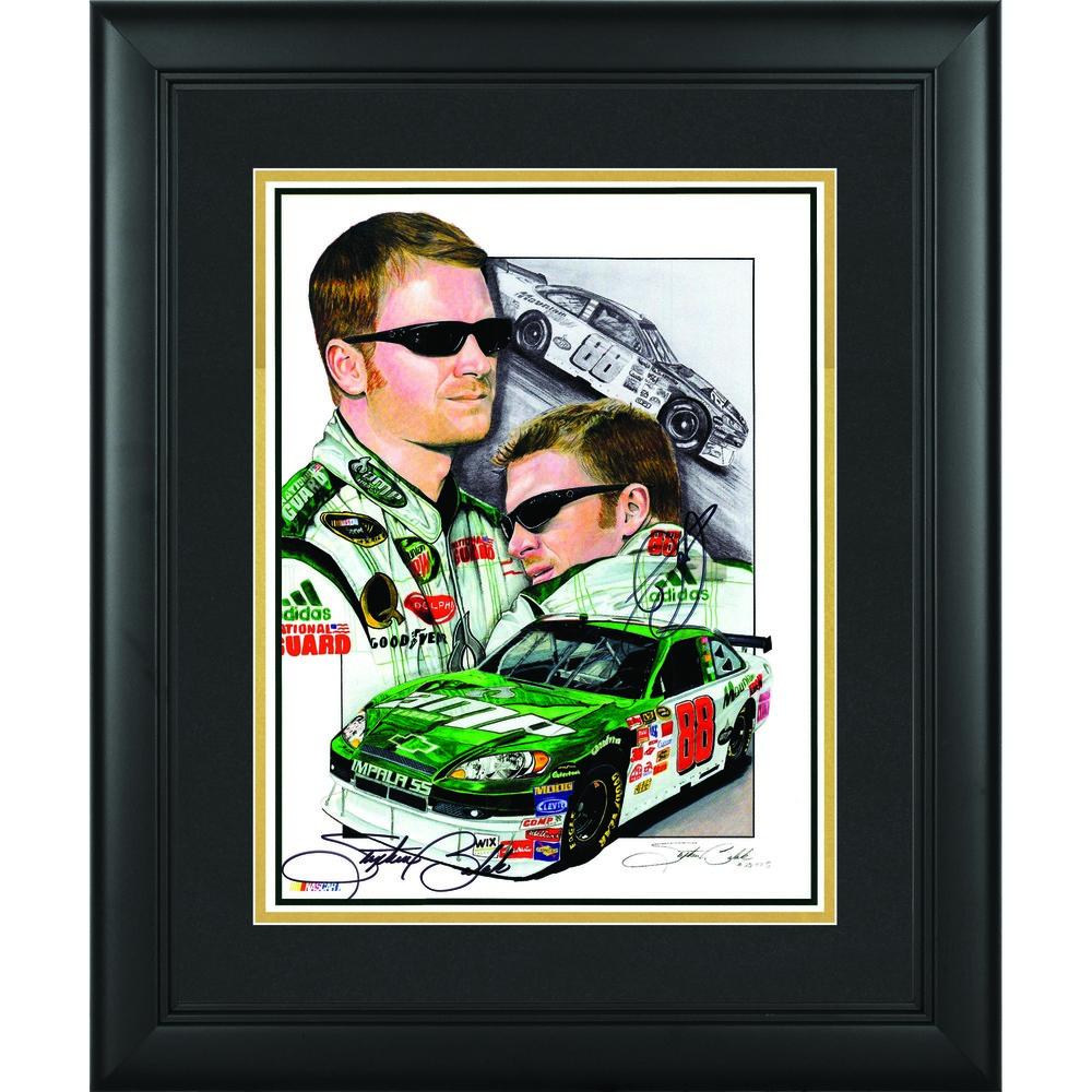 Dale Earnhardt Jr. & Stephen Balok Framed Dual Autographed 12