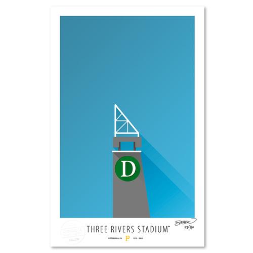 Photo of Three Rivers Stadium - Collector's Edition Minimalist Art Print by S. Preston #119/350  - Pittsburgh Pirates
