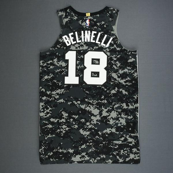 685939f3a91 Marco Belinelli - San Antonio Spurs - Game-Worn City Edition Jersey ...