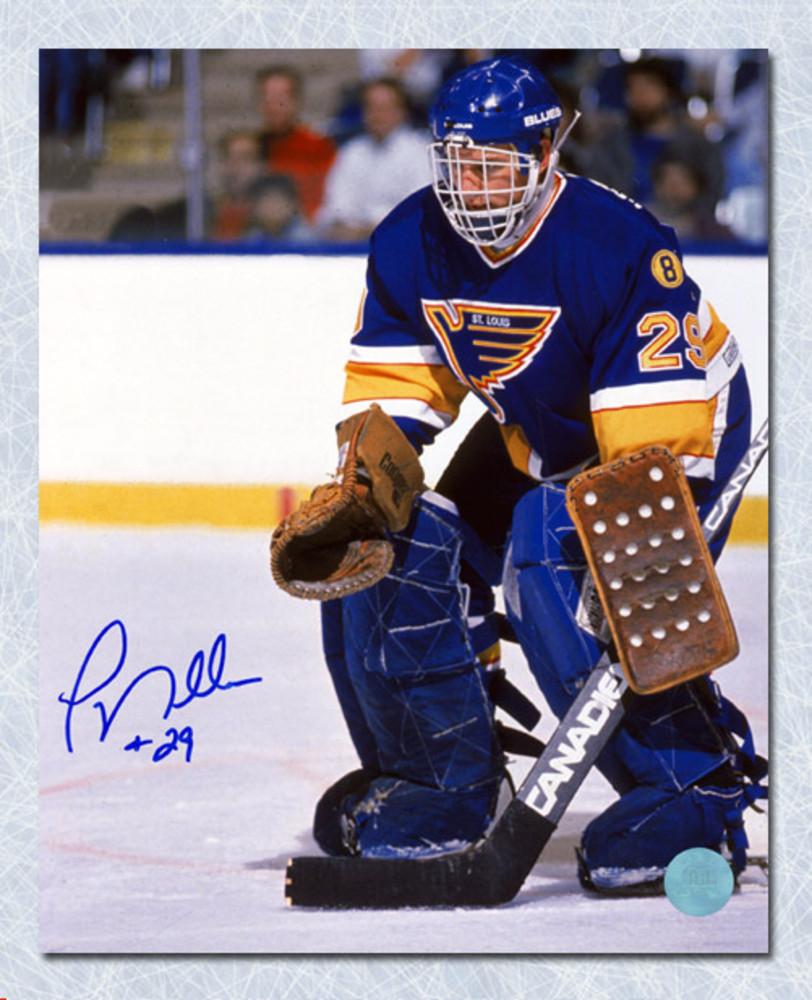 Greg Millen St. Louis Blues Autographed Goalie Action 8x10 Photo