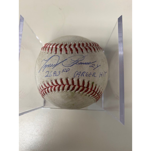Photo of Autographed Miguel Cabrera Game-Used Baseball: 2,683rd Career Hit- Single