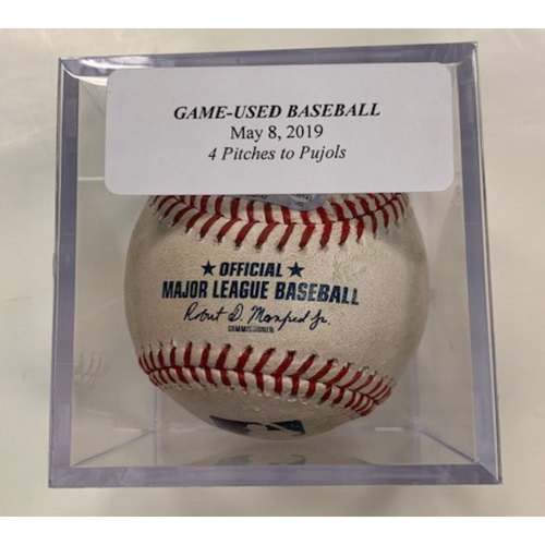 Game-Used Baseball: Four Pitches to Albert Pujols