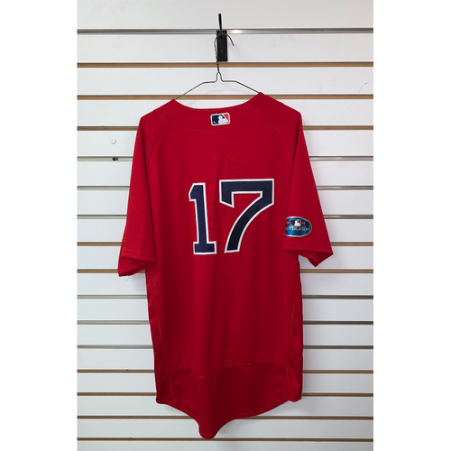 Photo of Nathan Eovaldi Team Issued 2018 Postseason Home Alternate Jersey