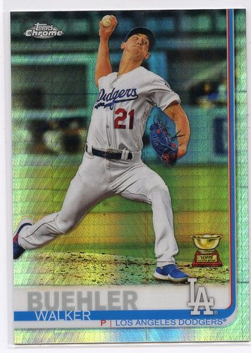 Photo of 2019 Topps Chrome Prism Refractors #90 Walker Buehler