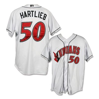 #50 Geoff Hartlieb Game Worn Home White Jersey